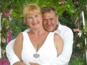 The light in my life - my husband Kobus and I on our wedding day