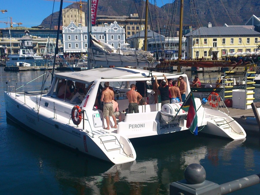 Stag party aboard
