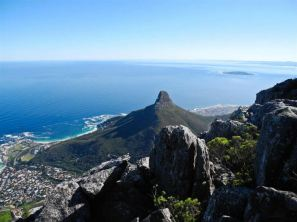 from atop Table Mountain